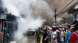 Hỏa hoạn tại trung tâm đô thị Mỹ Tho, nhiều nhà dân bị lửa thiêu rụi