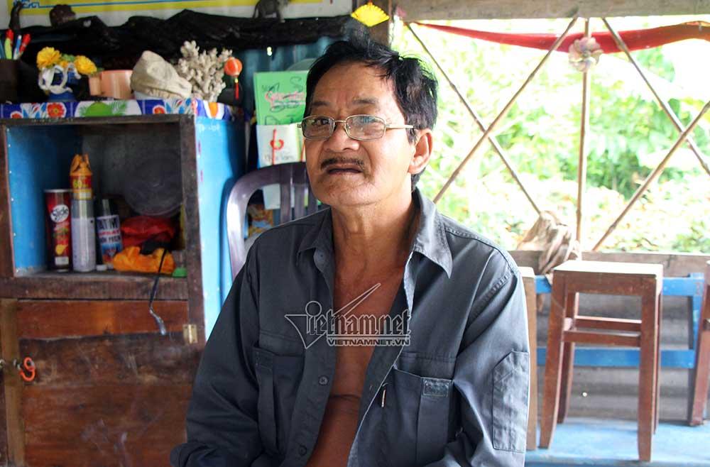 Ông Minh nói, phần đầu của nạn nhân bị nghi phạm Tâm vứt sang vườn ông