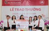"""Agribank Chi nhánh Kiến Tường Trao giải thưởng đợt II Chương trình"""" Sinh nhật vàng -Ngàn quà tặng"""""""