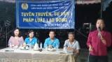 LĐLĐ tỉnh tuyên truyền, tư vấn pháp luật cho công nhân
