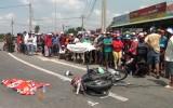 Xe tải va chạm xe máy, bé gái 3 tuổi chết thảm