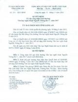 Quyết định về việc công nhận Giải thưởng Văn học nghệ thuật Nguyễn Thông lần V- năm 2017