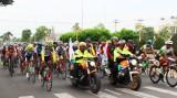 Khởi tranh chặng 9 Tour xe đạp toàn quốc về nông thôn tranh Cúp Gạo Hạt Ngọc Trời