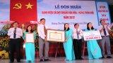 Hướng Thọ Phú đón nhận danh hiệu xã văn hóa - nông thôn mới