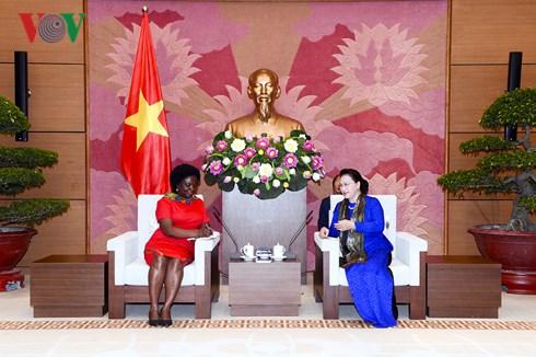 Chủ tịch Quốc hội Nguyễn Thị Kim Ngân tiếp bà Vitoria KwaKwa