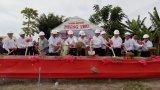 Nguyên Chủ tịch nước - Trương Tấn Sang dự lễ khởi công cầu nông thôn tại huyện Tân Thạnh