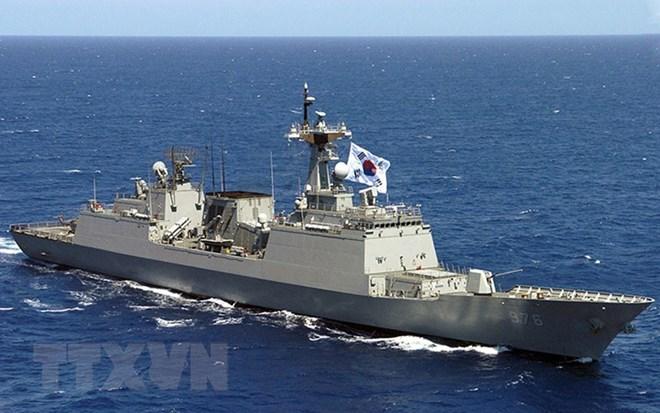 Tàu chiến của hải quân Hàn Quốc. (Nguồn: Courtesy of Wikipedia/TTXVN)