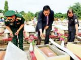 Nghĩa trang liệt sĩ Vĩnh Hưng - Tân Hưng: Nơi đón các anh về