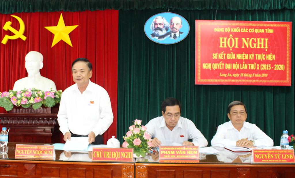 Nửa nhiệm kỳ qua, Ban Thường vụ Đảng ủy khối tiến hành giám sát 12 tổ chức cơ sở Đảng và 12 đảng viên là người đứng đầu