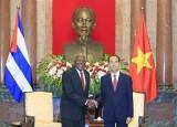 Chủ tịch nước Trần Đại Quang tiếp Phó Chủ tịch thứ nhất Cuba