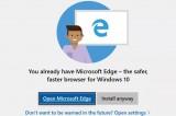 Windows 10 loại bỏ cảnh báo cài đặt trình duyệt bên thứ ba