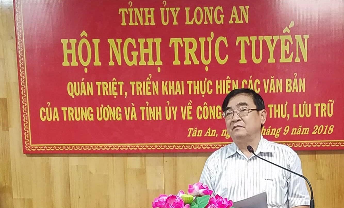 Phó Bí thư Thường trực Tỉnh ủy - Đỗ Hữu Lâm phát biểu chỉ đạo hội nghị