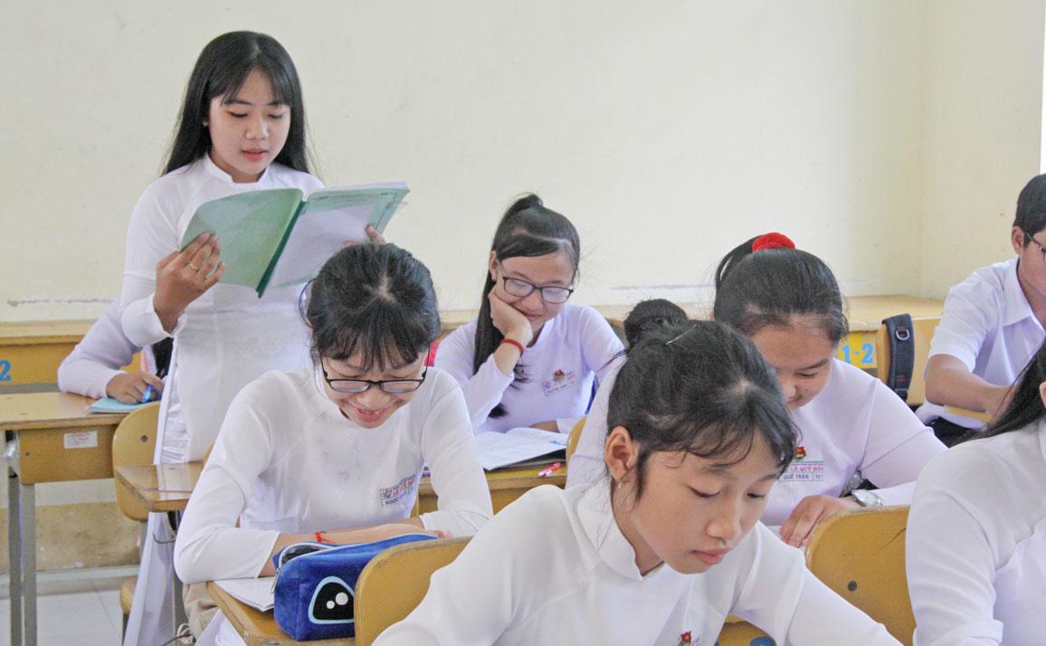 Học sinh năng động, tự tin trong học tập