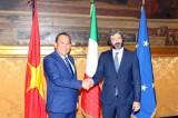 Phó Thủ tướng Trương Hòa Bình đề nghị Italy sớm phê chuẩn EVFTA