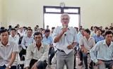 Bí thư Huyện ủy Thủ Thừa đối thoại với người dân về xây dựng và nâng chất hợp tác xã