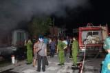 Tiền Giang: Cháy rụi cơ sở sản xuất trong đêm