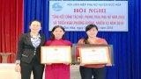 Hội Liên hiệp Phụ nữ huyện Đức Hòa nhận bằng khen của UBND tỉnh