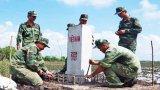Long An cắm 45/60 cột mốc biên giới Việt Nam - Campuchia
