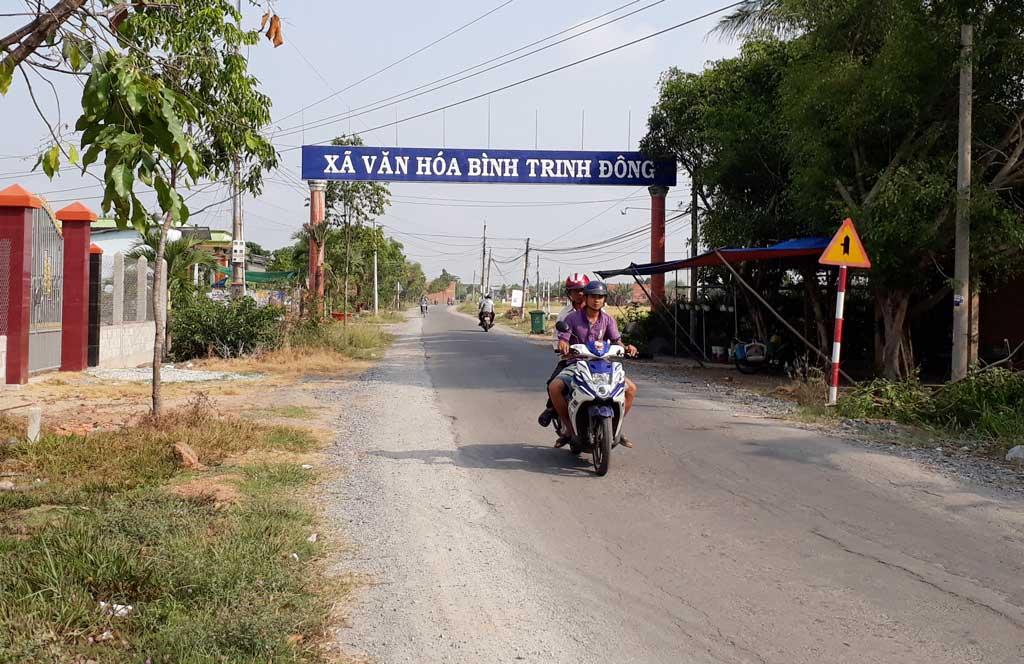 Xã Bình Trinh Đông đạt chuẩn nông thôn mới