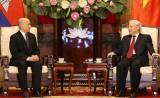 Tổng Bí thư, Chủ tịch nước hội kiến thân mật với Quốc vương Campuchia