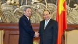 Thủ tướng tiếp Quyền Tổng Thư ký Đảng Dân chủ tự do Nhật Bản