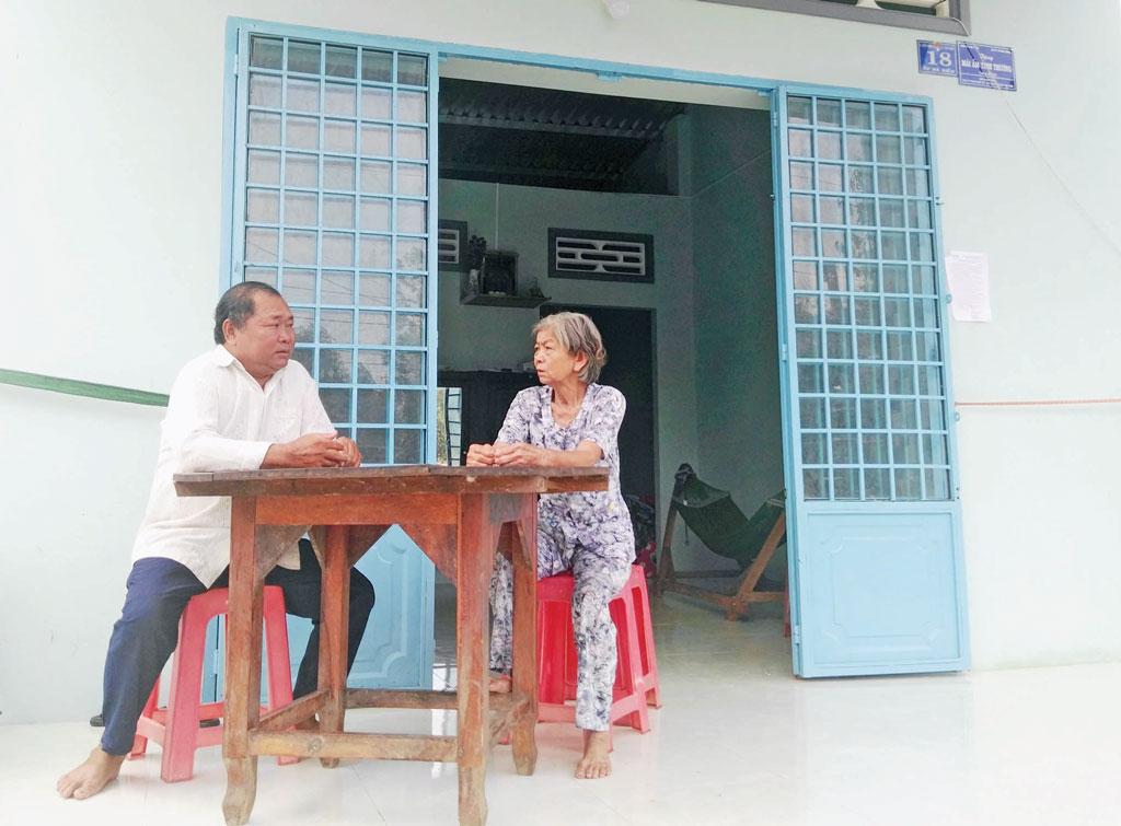 Bà Nguyễn Thị Thường có cuộc sống ổn định hơn từ khi có ngôi nhà mới