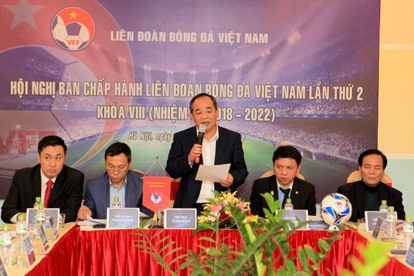 Hội nghị Ban chấp hành Liên đoàn Bóng đá Việt Nam lần thứ 2 khóa VIII. (Nguồn: VFF)
