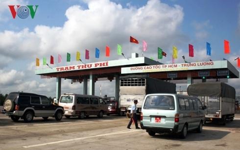 Từ 0h00 ngày 1/1/2019, Trạm thu phí cao tốc TPHCM - Trung Lương sẽ chính thức dừng thu phí.