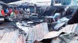 Đức Hòa: Cháy gần chợ Lộc Giang