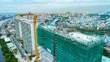 Cất nóc tháp C - Diamond Lotus Riverside - Bức tường xanh khổng lồ giữa lòng TP.HCM