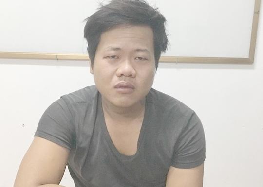 Hồ Văn Thanh tại Cơ quan CSĐT Công an huyện Châu Phú. Ảnh do công an cung cấp