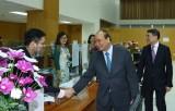 Thủ tướng dự giao ban đầu Xuân Kỷ Hợi tại Ngân hàng Chính sách xã hội