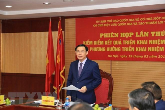Deputy Prime Minister Vuong Dinh Hue addresses the conference (Photo: VNA)