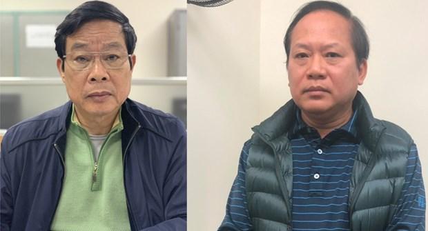 Cơ quan Cảnh sát điều tra Bộ Công an đã bắt giữ hai ông Nguyễn Bắc Son (trái) và Trương Minh Tuấn. (Nguồn: Cổng thông tin Bộ Công an)