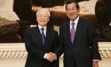 Tổng Bí thư, Chủ tịch nước hội kiến với Thủ tướng Campuchia Hun Sen