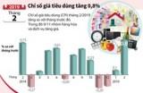 Chỉ số giá tiêu dùng tháng 2 tăng 0,8%
