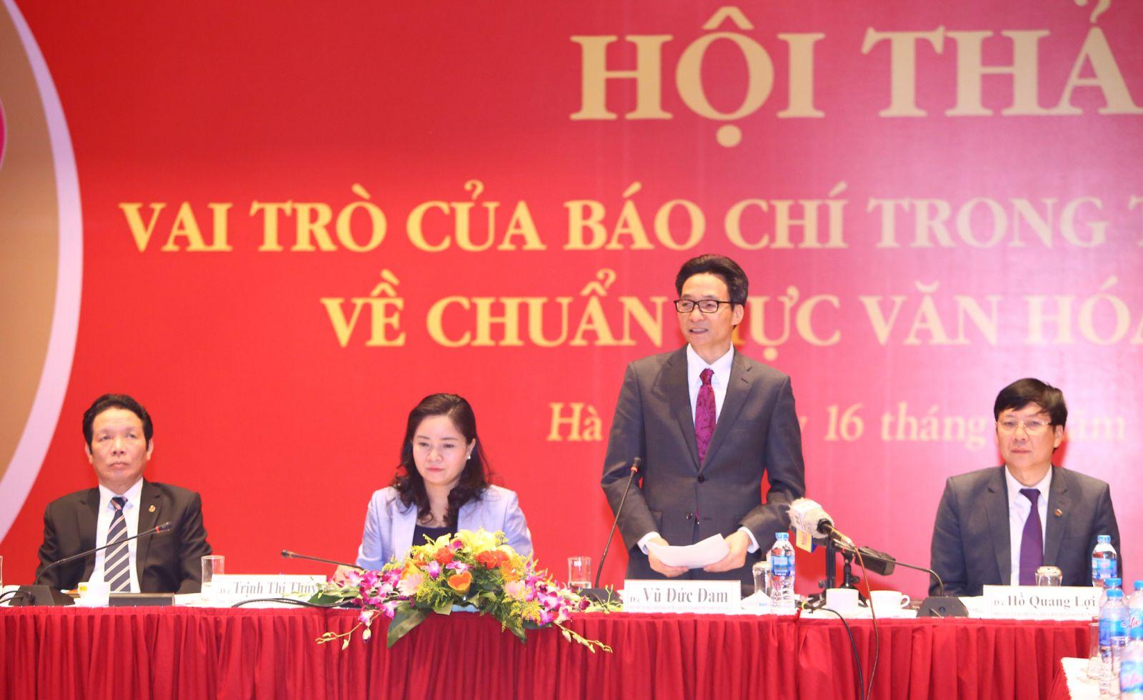 Phó Thủ tướng Vũ Đức Đam phát biểu tại Hội thảo. - Ảnh: VGP/Đình Nam
