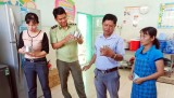 Cần Giuộc: Kiểm tra bếp ăn tập thể tại trường học