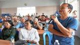 Chủ tịch UBND TP.Tân An - Lê Công Đỉnh đối thoại các hộ dân trong dự án đường Vành đai TP.Tân An
