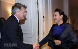 Chủ tịch Quốc hội Nguyễn Thị Kim Ngân tiếp Bí thư Đảng Cộng sản Pháp