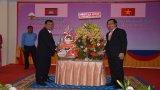 Lãnh đạo tỉnh Long An chúc Tết cổ truyền tại tỉnh Prey Veng, Vương quốc Campuchia