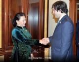 Chủ tịch Quốc hội Việt Nam - Gruizia hội kiến
