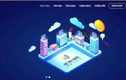 Home page of Vietnamese digital knowledge system
