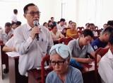 Cử tri Tân Trụ quan tâm vấn đề an sinh xã hội