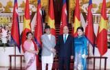 Thủ tướng Nguyễn Xuân Phúc hội đàm với Thủ tướng Nepal