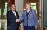 Thủ tướng Nguyễn Xuân Phúc hội đàm với Thủ tướng Na Uy Erna Solberg