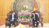 Đoàn công tác Chính quyền tỉnh Chungcheongnam chào xã giao lãnh đạo tỉnh Long An