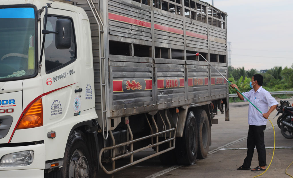 Deputy Director of the provincial Division of Livestock, Veterinary and Fisheries - Duong Minh Phi informed the situation and the risk of spreading ASF in Chau Thanh district