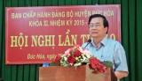 Bí thư Tỉnh ủy Long An - Phạm Văn Rạnh dự Hội nghị Huyện ủy Đức Hòa