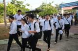 Thí sinh các huyện Đồng Tháp Mười tham gia kỳ thi THPT Quốc gia 2019